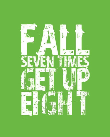 fall seven times