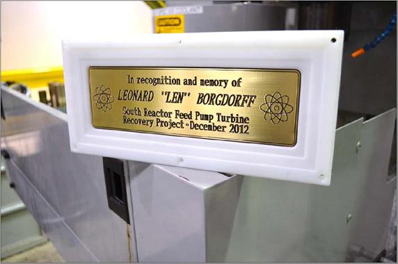 Len plaque