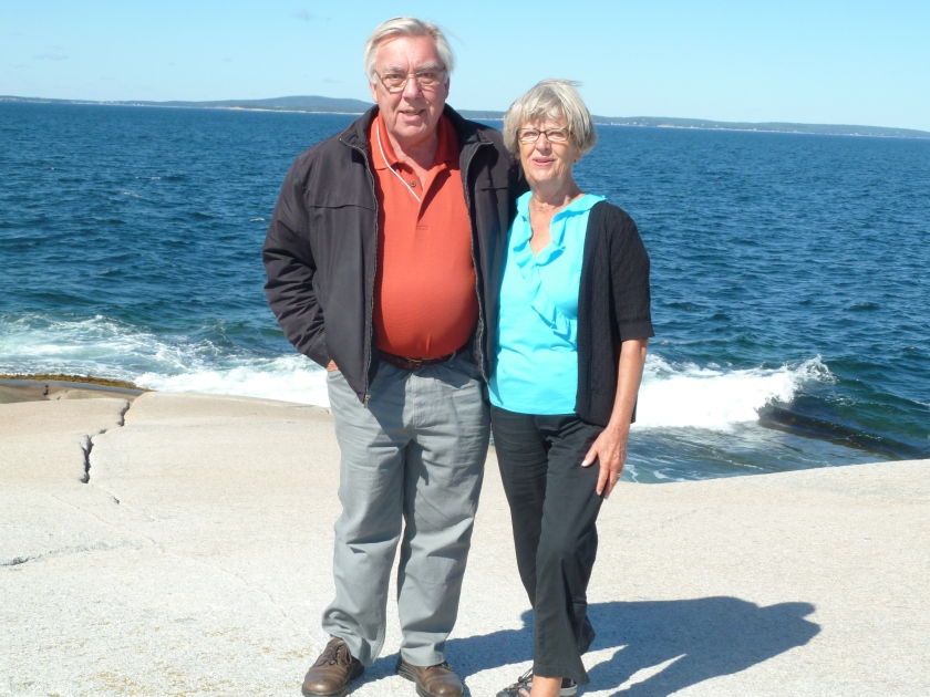 Peter and Janet at Peggy's Cove  NS 2012