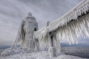 lighthouse frozen