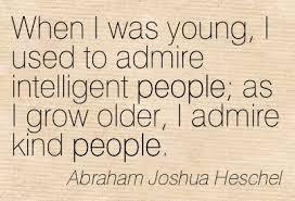 admire kind people